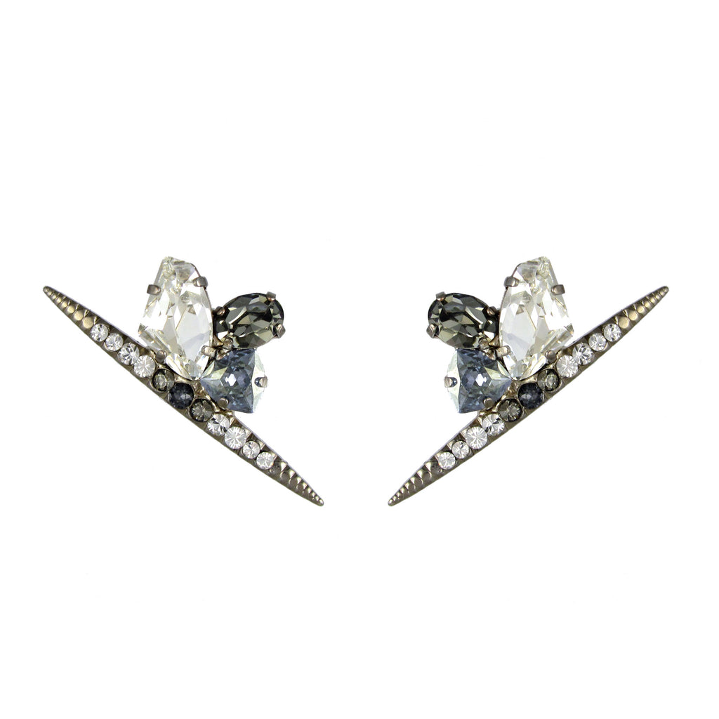 Chrysler Galactic earrings by Heiter Jewellery