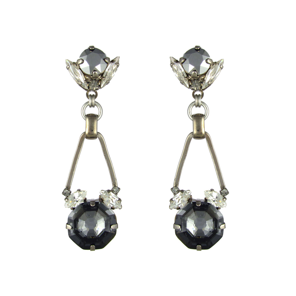 Silver Night Chrysler Earrings by Heiter Jewellery