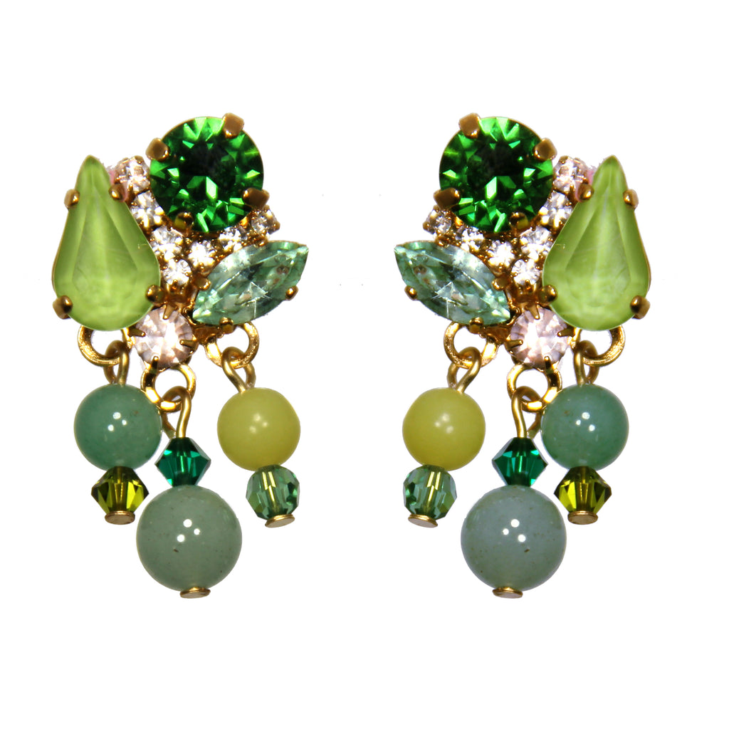 Gaia Green Earrings