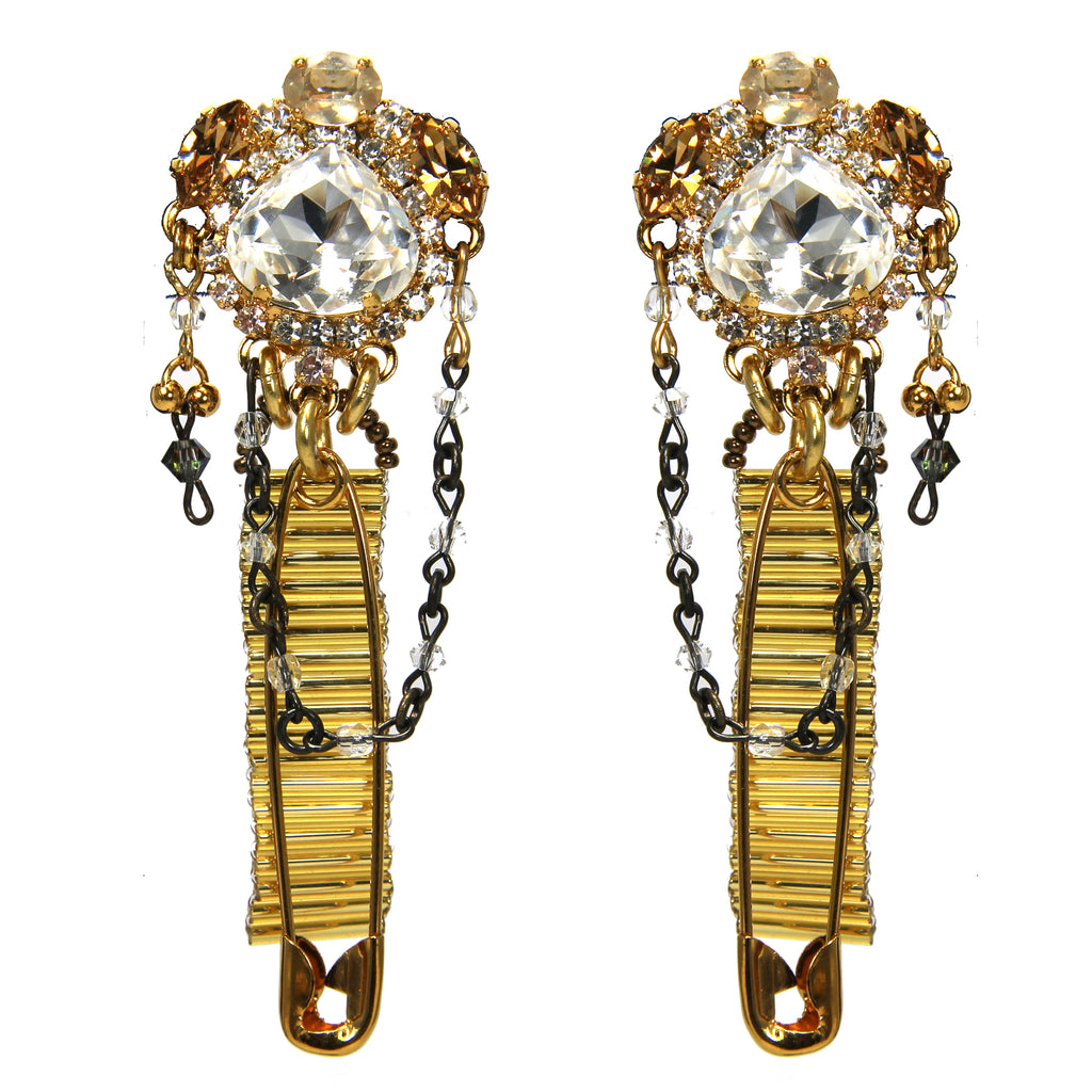 Bonfire Of The Vanities Bugle Bead Earrings