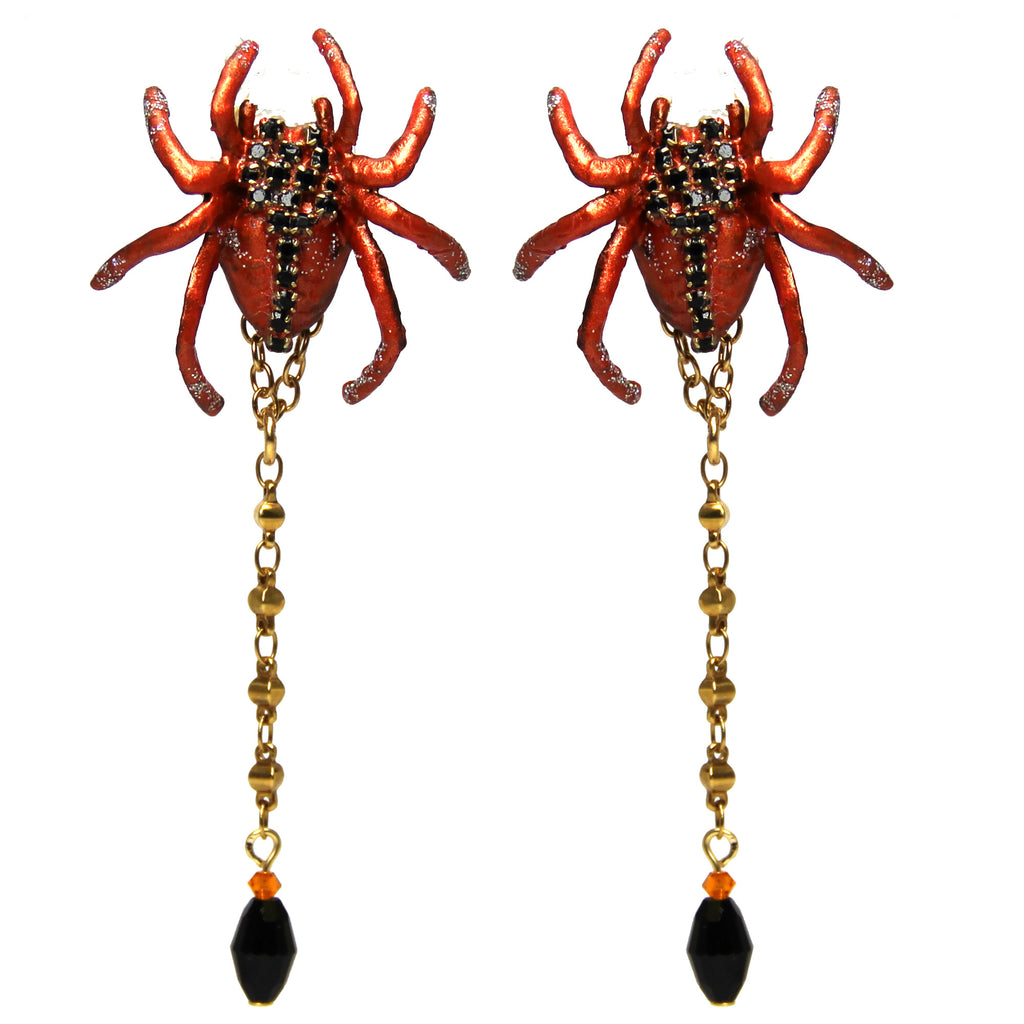 Endora Long Spider Earrings
