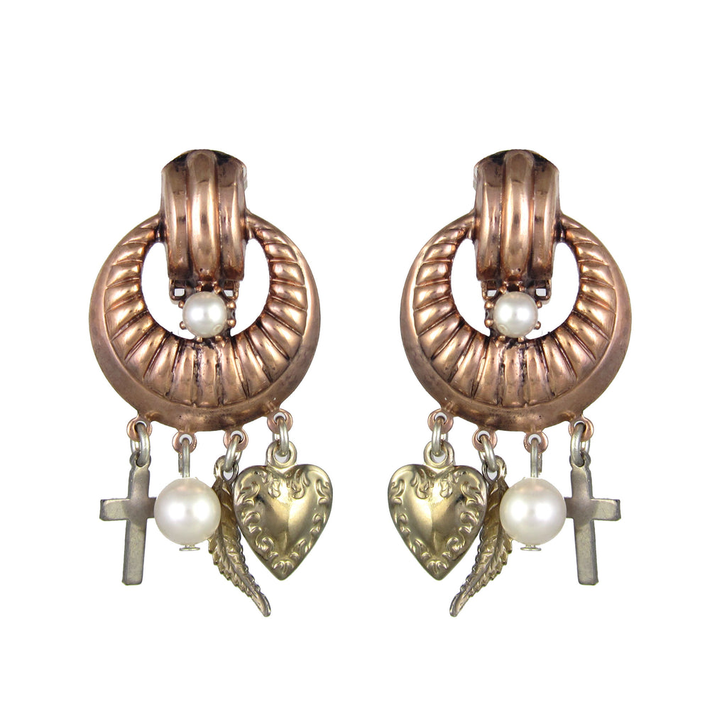 Essentially Vicki Rose Charm Earrings