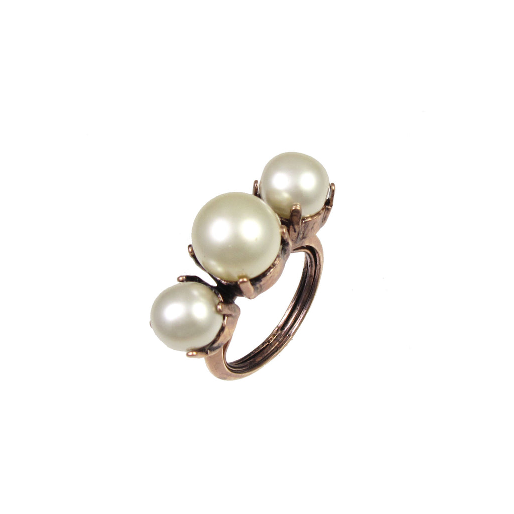 Essentially Vicki Faux Pearl Ring