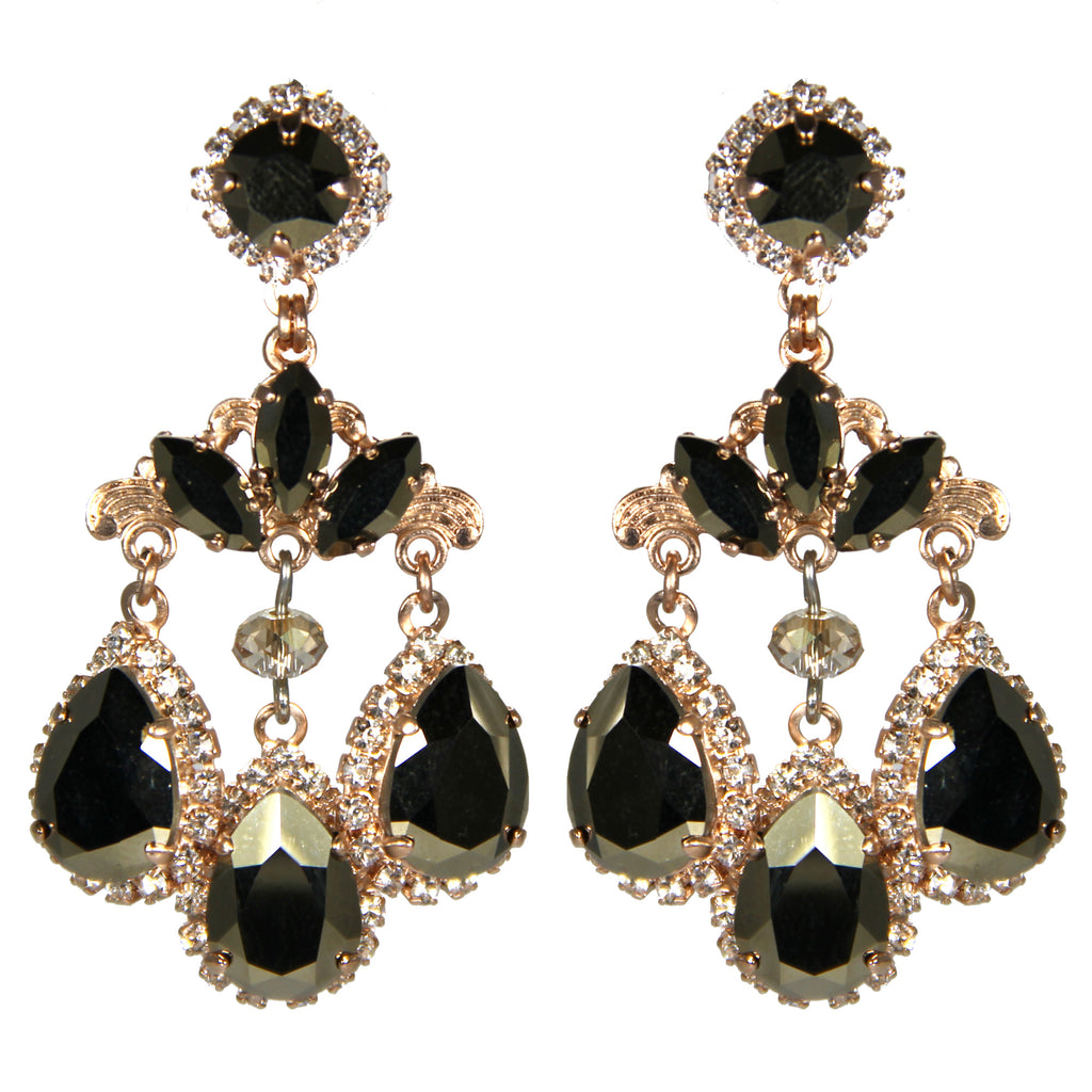 Earthly Delights Venetian Teardrop Earrings Black