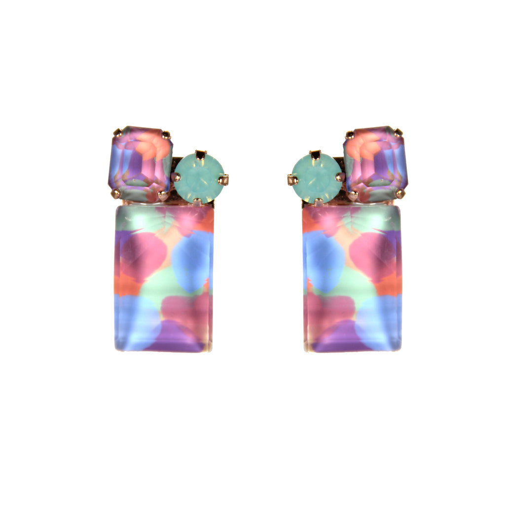 Earthly Delights Rainbow Square Earrings