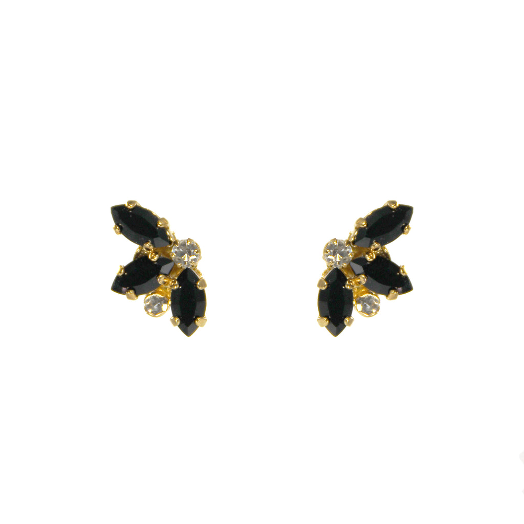 Essentially Vicki Gold & Jet Stud Earrings