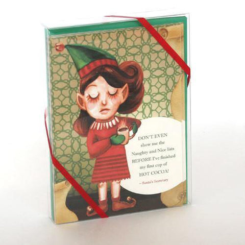 """Santa's Secretary"" 10 pack Christmas Cards - Something to Cherish"
