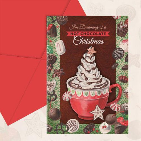 """Dreaming of a Hot Chocolate Christmas"" 10 pack Christmas Cards - Something to Cherish"