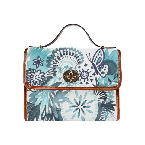 """Something Blue"" Watercolor Floral Canvas Waterproof Bag - Something to Cherish"