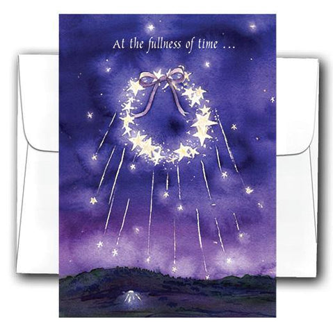 """Starry Wreath"" 10 Pack Christmas Cards - Something to Cherish"