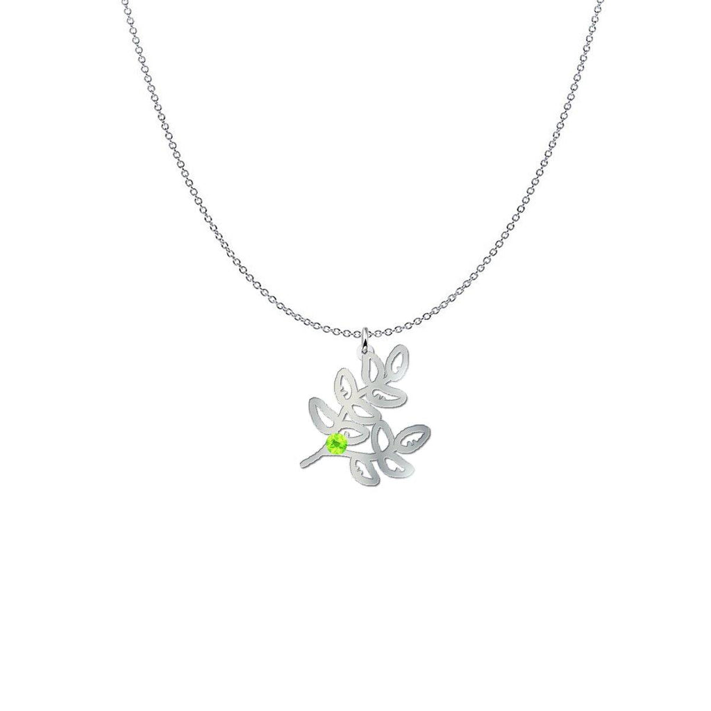 Thyme Birthstone Sterling Silver Necklace - Something to Cherish - Gifts for life because life is a gift.