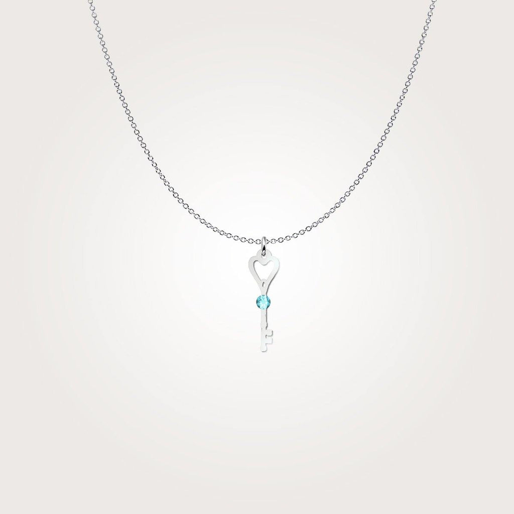 Cherished Dance Key - Birthstone Sterling Silver Necklace - Something to Cherish - Gifts for life because life is a gift.