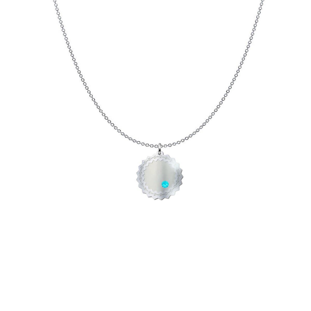 Wreath Birth Stone Sterling Silver Necklace - Something to Cherish - Gifts for life because life is a gift.