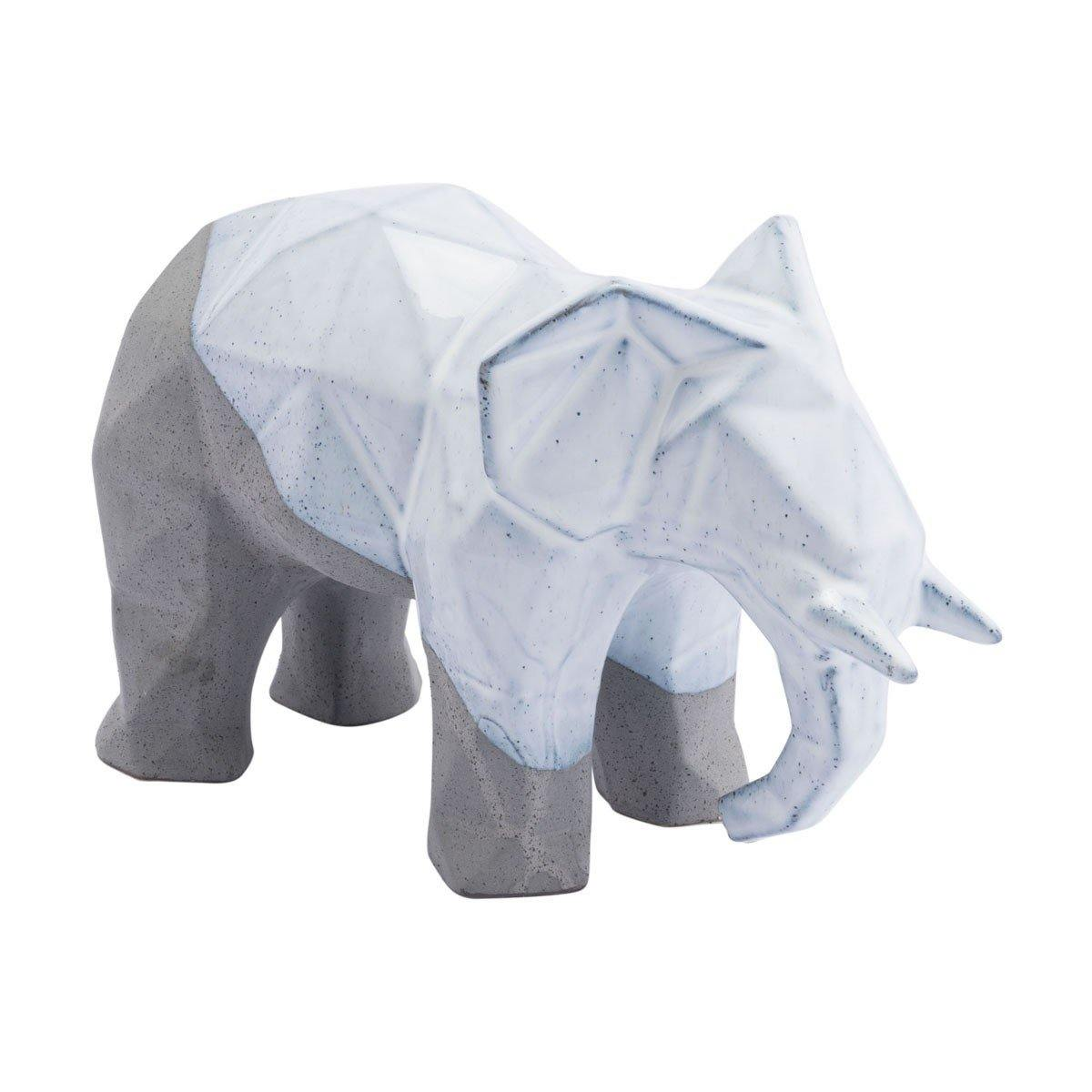 Elephant Geo Contemporary White & Gray - Something to Cherish - Gifts for life because life is a gift.