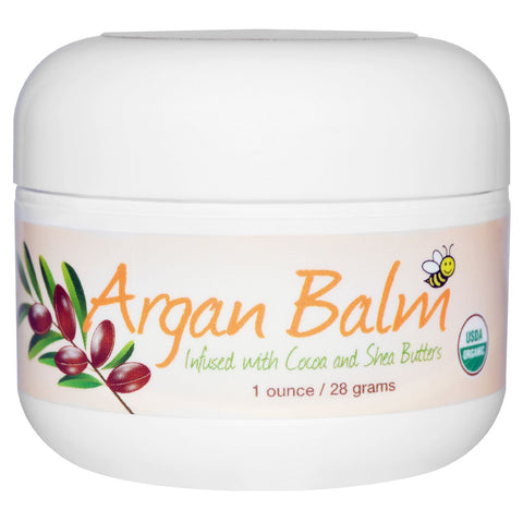 Sierra Bees, Argan Balm with Cocoa & Shea Butter, Superior to Petroleum Jelly, 1 oz (28 g)