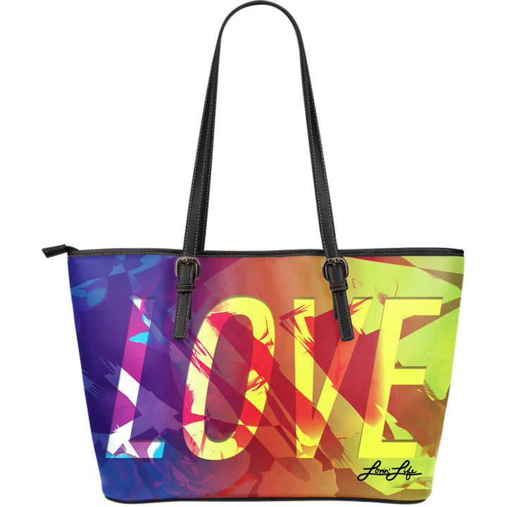 Lovin' Life Nuluv Large Leather Tote Bag