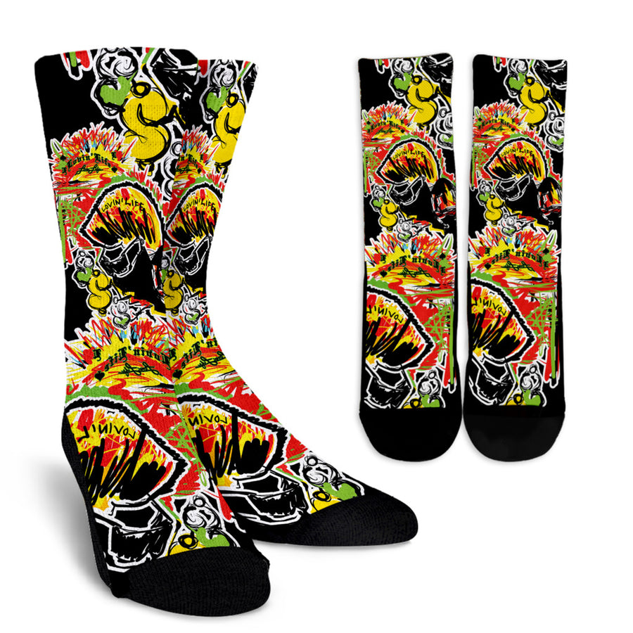 LOVIN' LIFE - #%* - SPAGE AGE COLLECTION - Crew socks