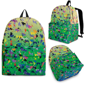 Lovin' Life splatter paint backpack