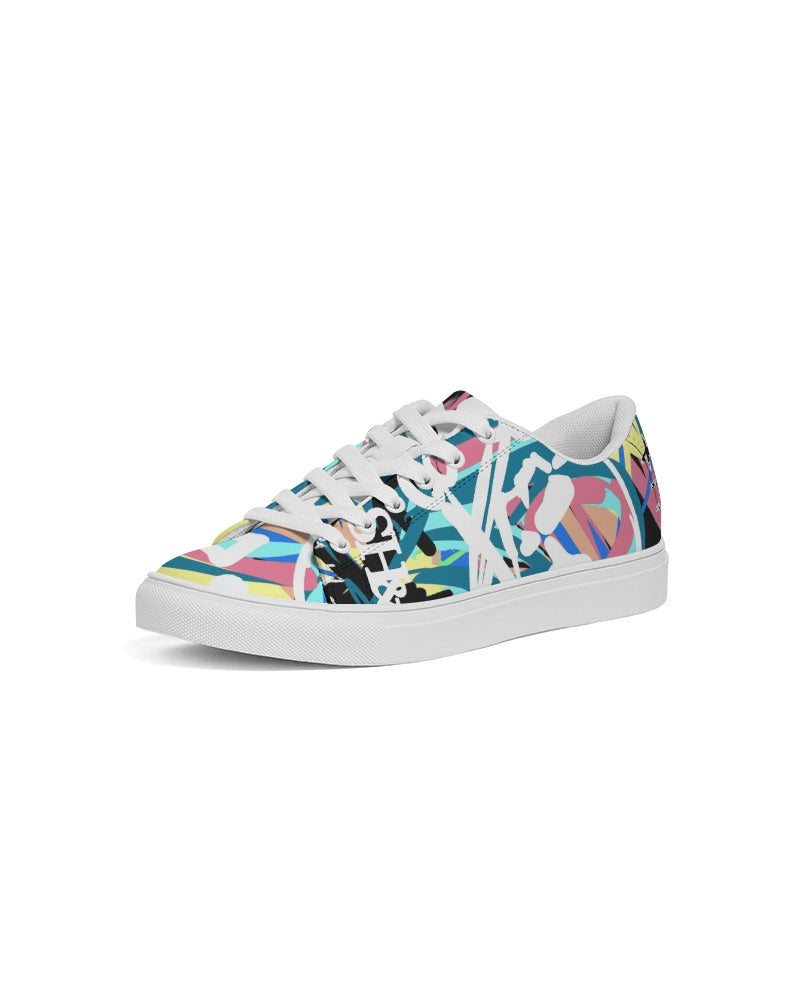 C&C  Women's Faux-Leather Sneaker