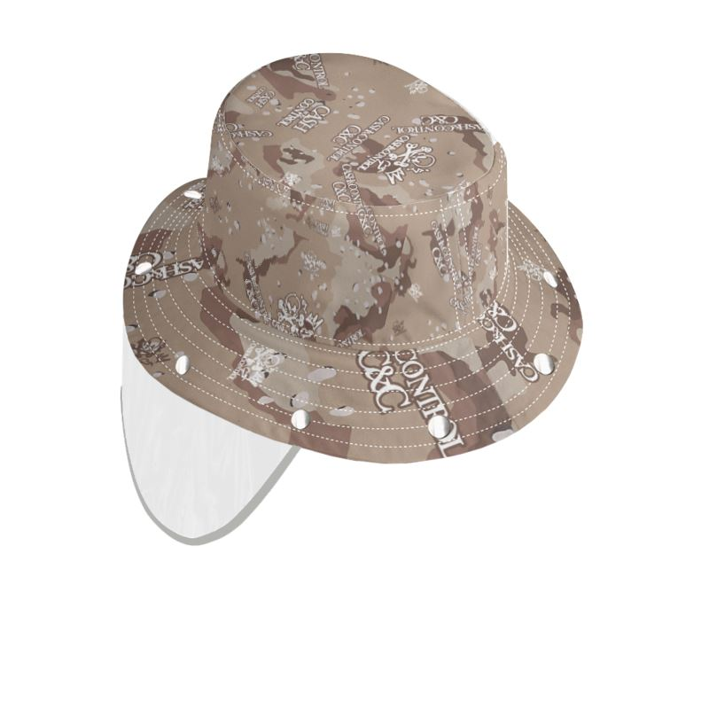 Desert Camo Bucket Hat With Visor