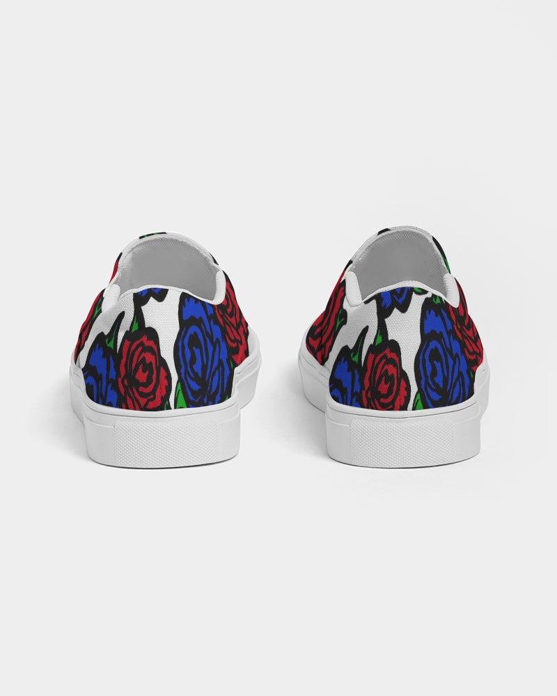 Roses Men's Slip-On Canvas Shoe