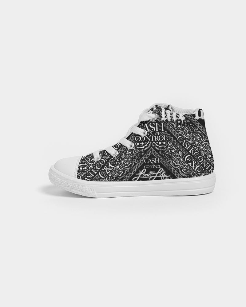 El Hefe bandana blac - Kids Hightop Canvas Shoe