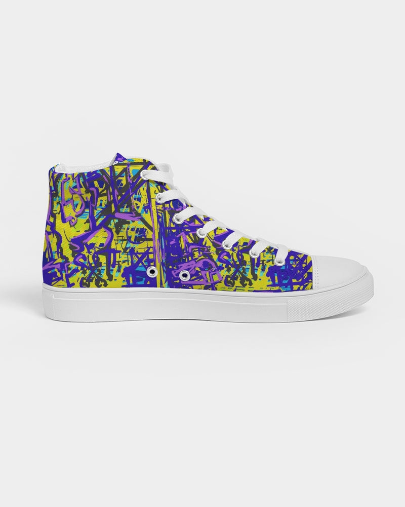 Moon mix Women's Hightop Canvas Shoe