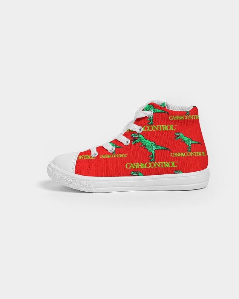 T-Rex by Cash&Control - red Kids Hightop Canvas Shoe