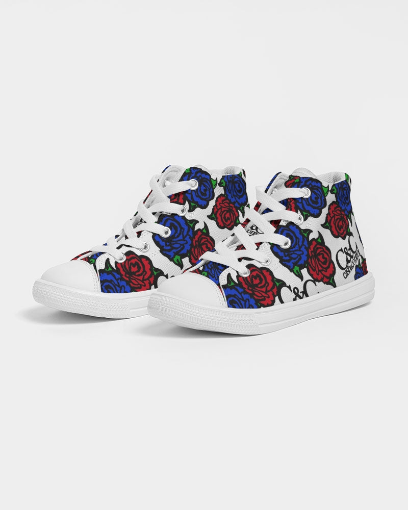 Roses Kids Hightop Canvas Shoe