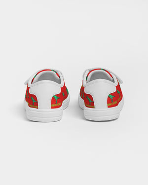 T-Rex by Cash&Control - red Kids Velcro Sneaker