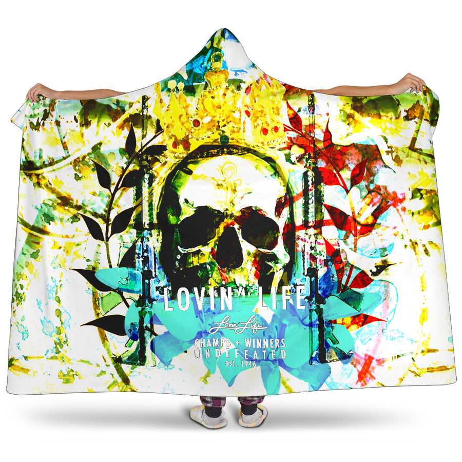 LOVIN' LIFE MEMBERS ONLY - DIVINITY CRES Hooded Blanket