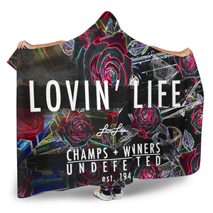 Lovin' Life members only hooded blanket