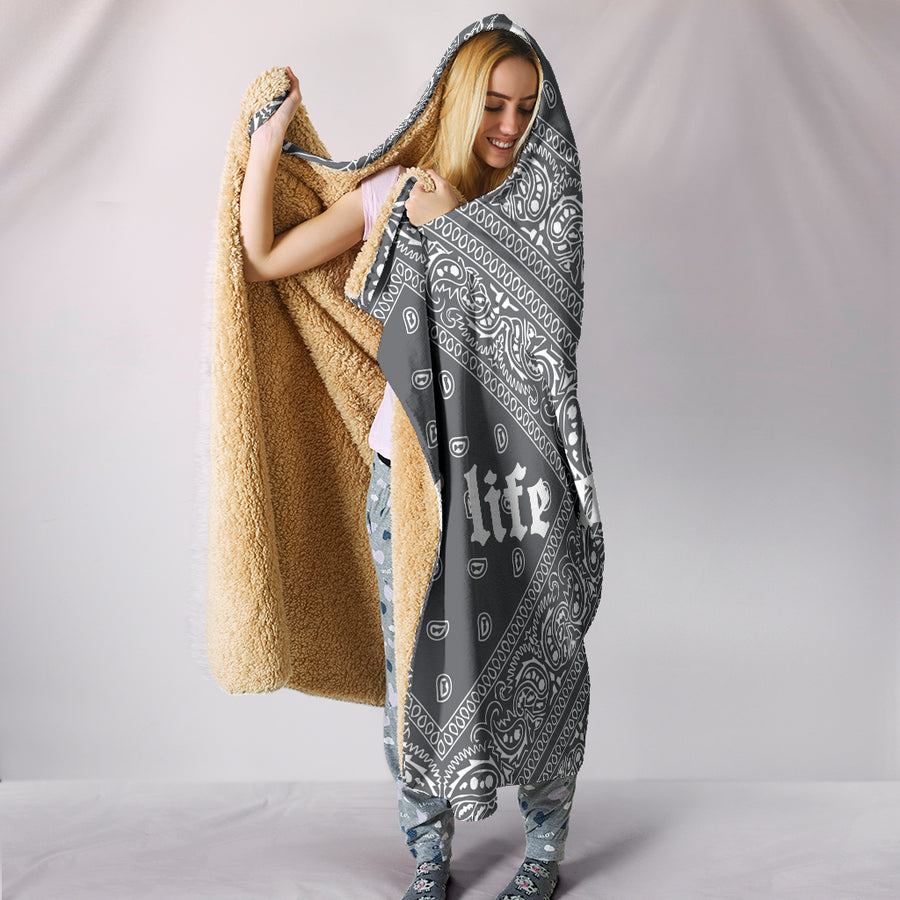 El Hefe Hooded Blanket - Grey