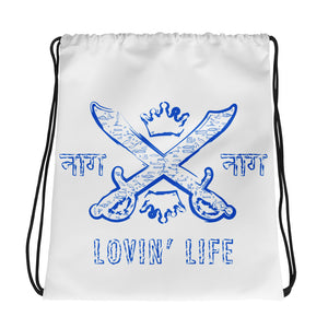 LOVIN' LIFE MEMBERS ONLY - SYNDICATE FAMILY BLU Drawstring bag