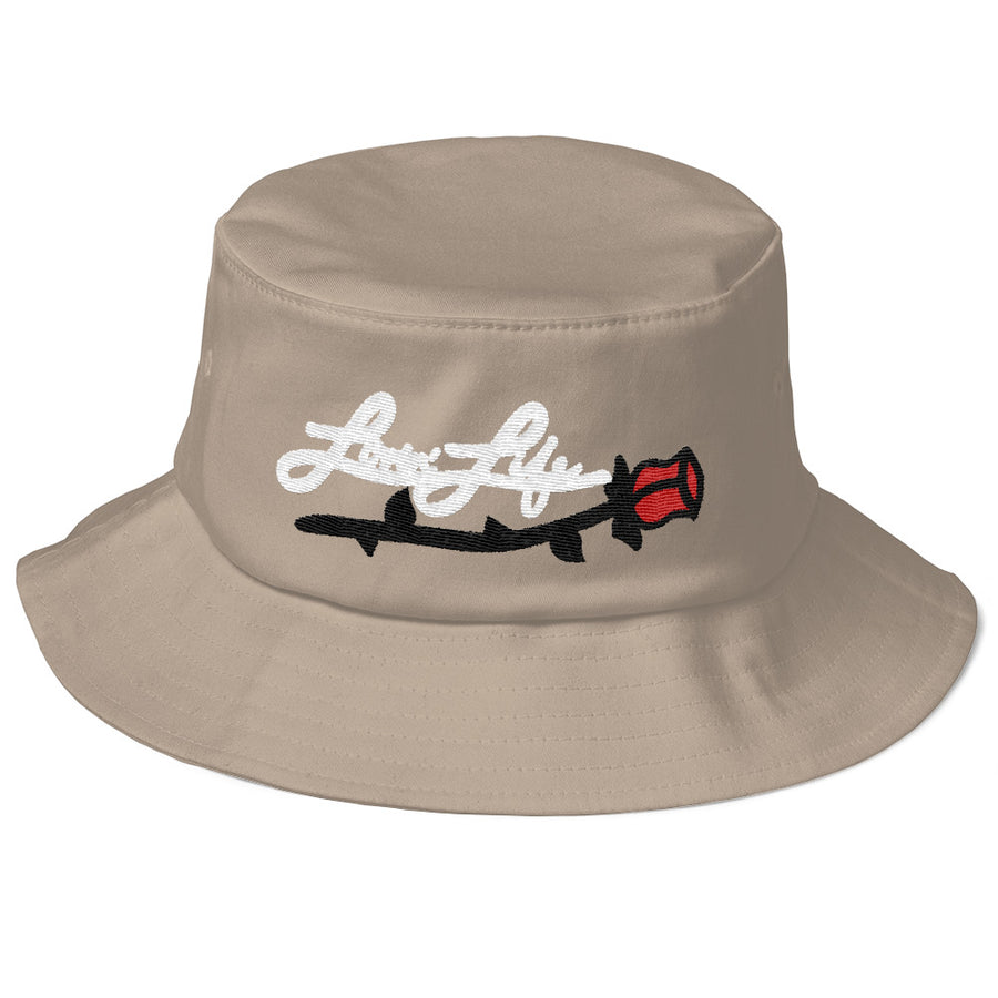 Lovin' Life Rosey red/w Old School Bucket Hat