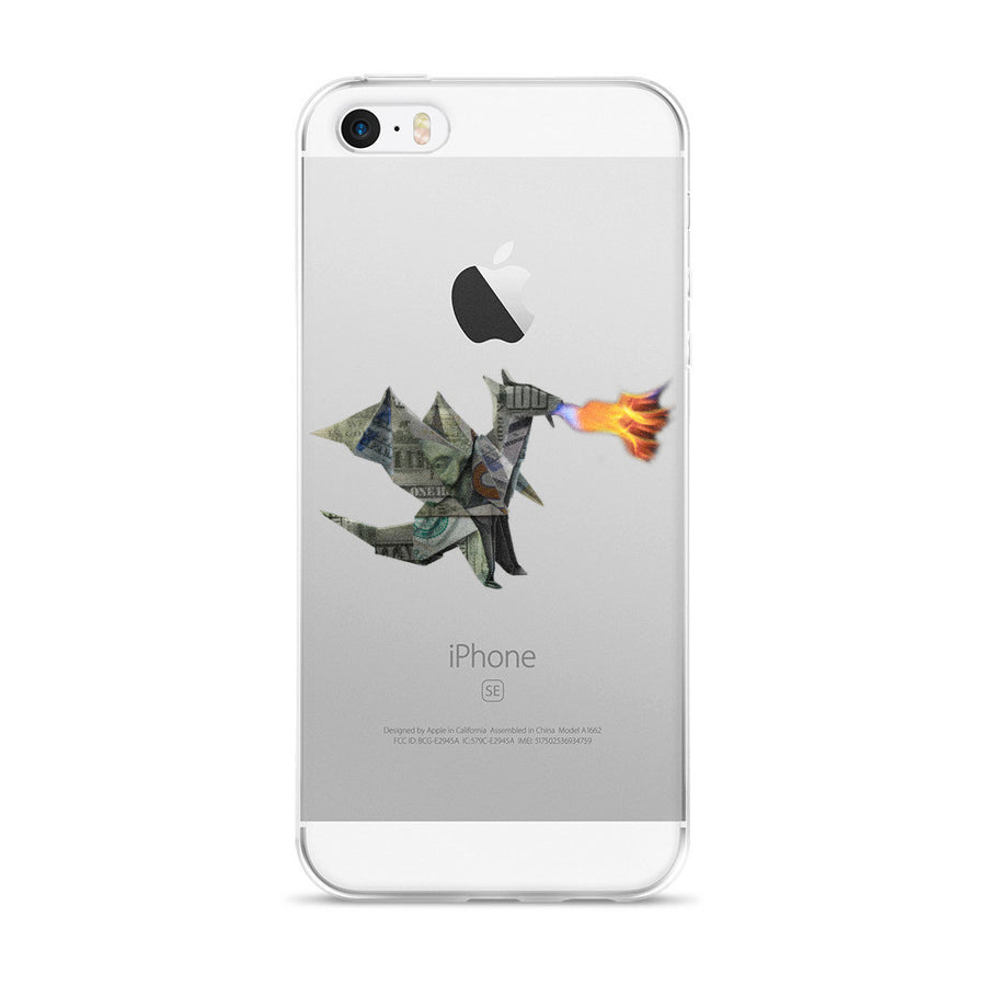 Origami Money Dragon iPhone 5/5s/Se, 6/6s, 6/6s Plus Case