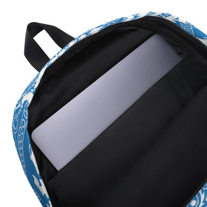 Lovin' Life - El hefe - LAPTOP/Gym size Backpack - blu