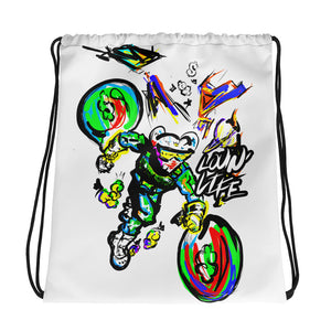 LOVING' LIFE -BAG RUN - SPACE COLLECTION Drawstring bag