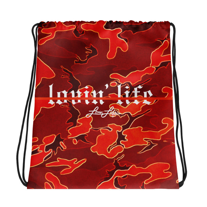Camo Red remix Drawstring bag