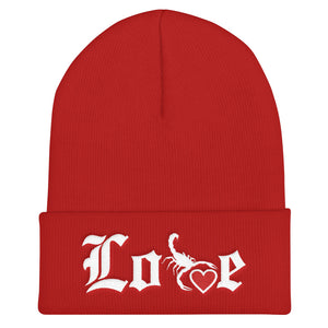 Lovin' Life - SELF LOVE - red heart/white Beanie