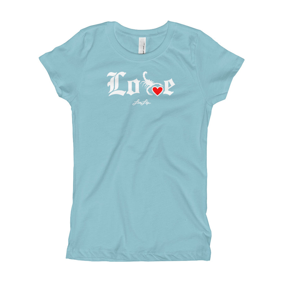 Youth Girl's Lovin' Life - SELF LOVE - red heart T-Shirt