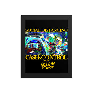 SOCIAL DISTANCING - Collection  Framed poster