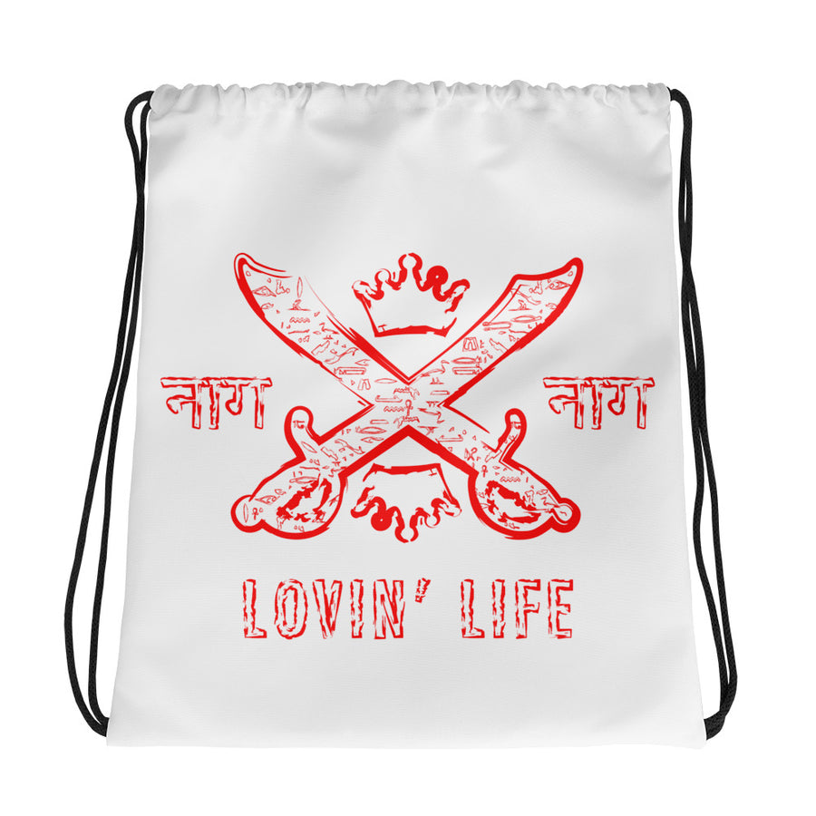 LOVIN' LIFE MEMBERS ONLY - SYNDICATE FAMILY RED Drawstring bag