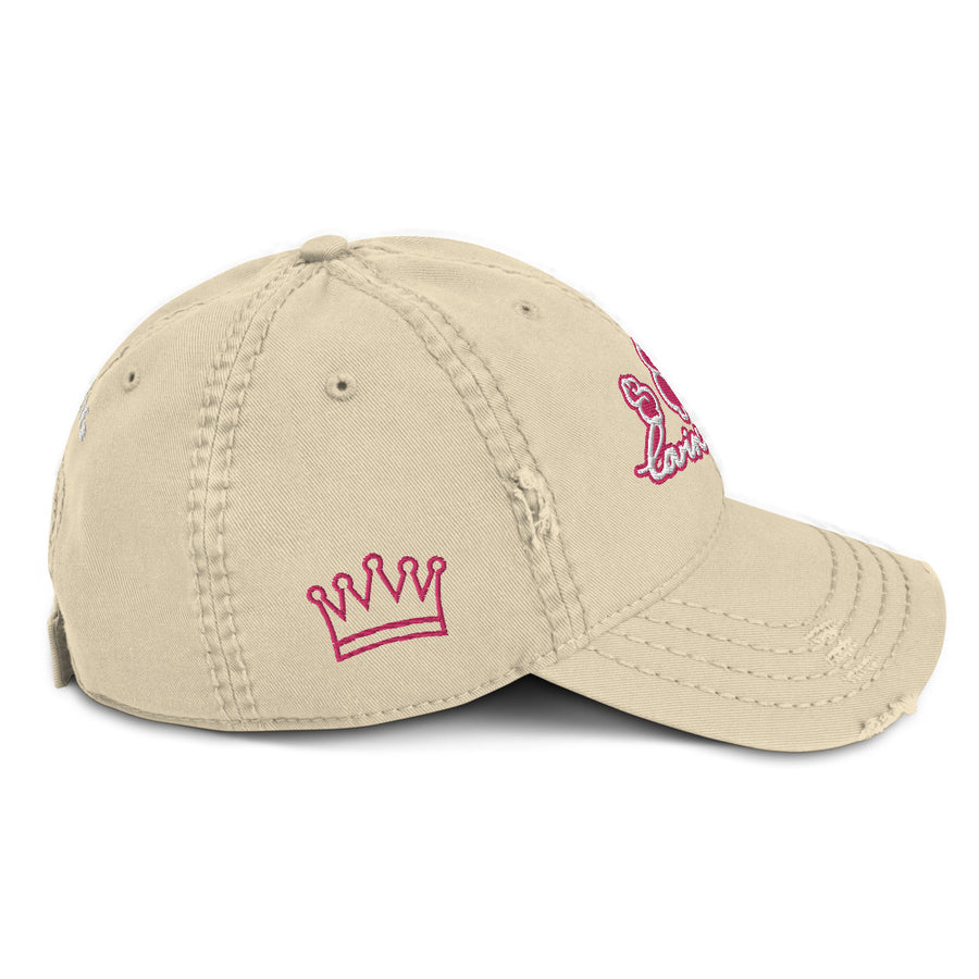 LOVIN' LIFE - MONEY SYMBOLS - Distressed Dad Hat