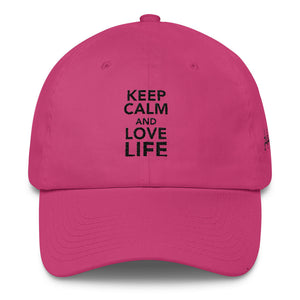 Keep calm and love life DAD hat