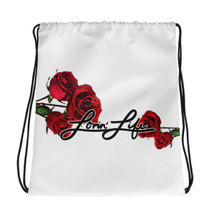 Lovin' Life Rosey Red Drawstring bag