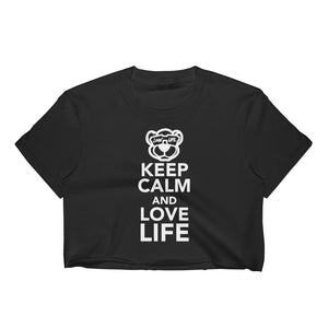 Ladies Keep calm and love life Crop Top