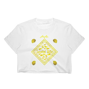 Ladies Rosey Yellow Crop Top