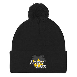 LOVIN' LIFE - all smiles yellow - Pom Pom Knit Cap