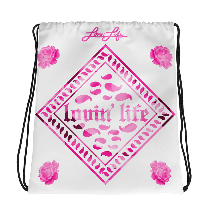 Rosey Pink Drawstring bag